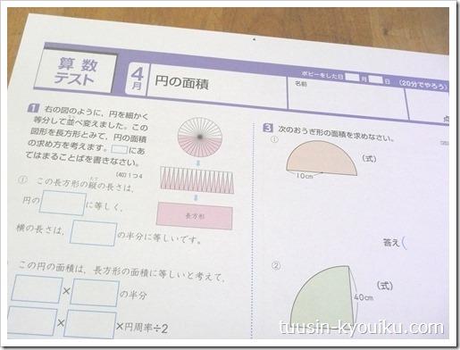 小学ポピー6年生4月号の算数テストサンプル