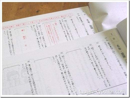 がんばる舎の小学エース6年生9月号の国語の問題用紙と解答