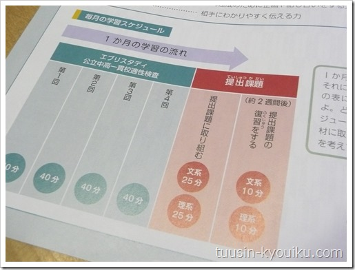 Z会中高一貫適性検査(6年生)の学習スケジュール